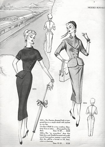 Sophisticatedly lovely 1950s daywear looks. #vintage #1950s #suits #fashion