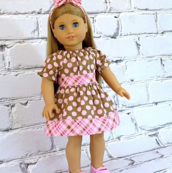 American Girl Doll Clothes Pink Polka Dot by SewFunDollClothes, $22.00