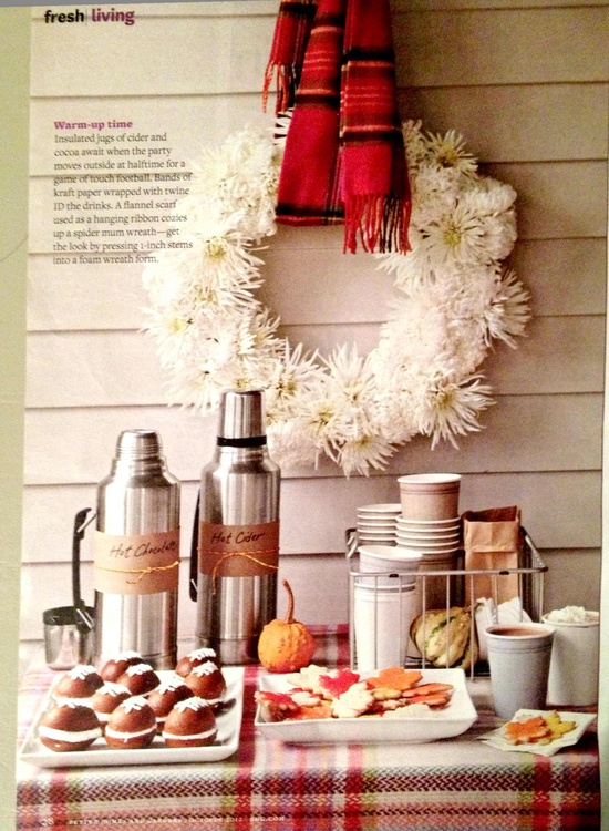fall party idea - Better Homes and Gardens October 2012