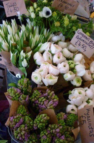 Hyacinths, ranunculi, tulips... gorgeous!