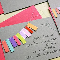 Bunting Party Invites