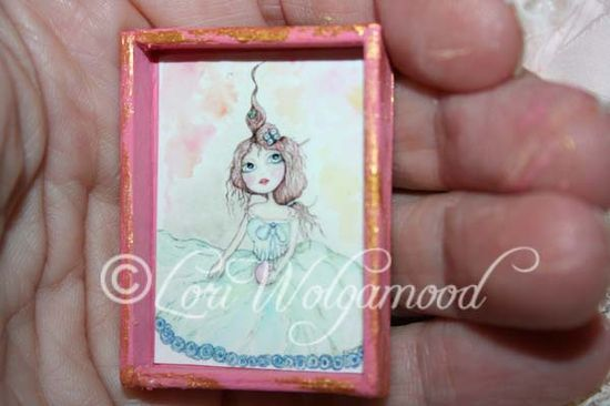 Fairy Mess Print for Doll House Hand Painted Miniature Print - Vintage Nest Designs, Creative Handmade and Hand Painted Designs