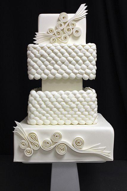 Tim's quill work wedding cake