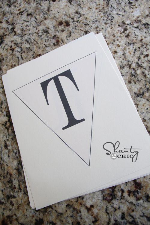 Free Printable – WHOLE Alphabet Banner!!