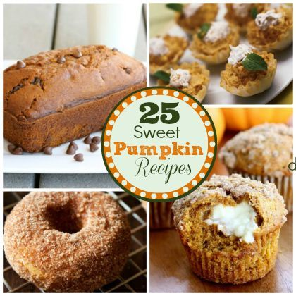 Fall is the perfect time for 25 Sweet Pumpkin Dessert Recipes #fall #recipes #pumpkin #dessert