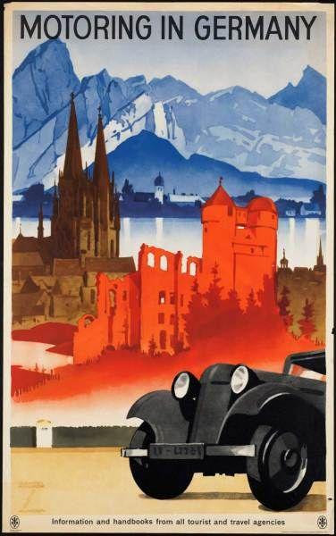 german travel poster