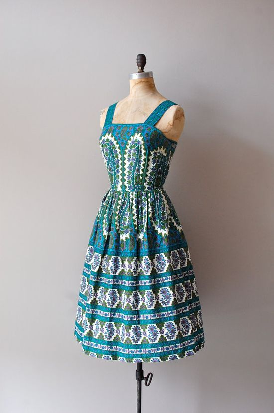 1950s Sea Meridian dress
