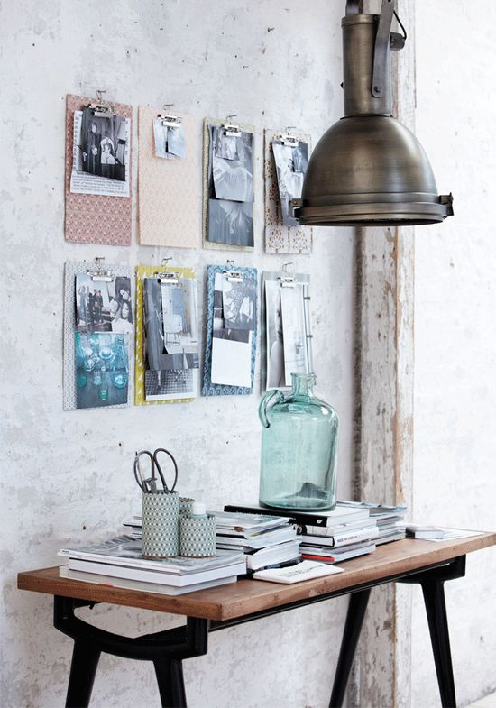 like the clipboards! I think it adds a modern touch to the old background! #clever