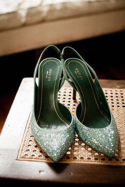 Green Gucci's ? Photography by toddfrancephoto.com  Read more - www.stylemepretty...
