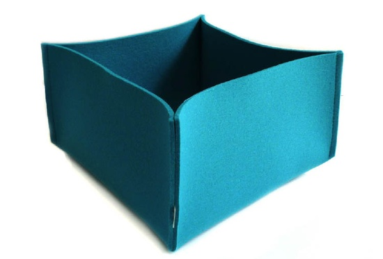 Provide is now stocked with great new colours in our Daff merino wool felt boxes – this one is in carribean.