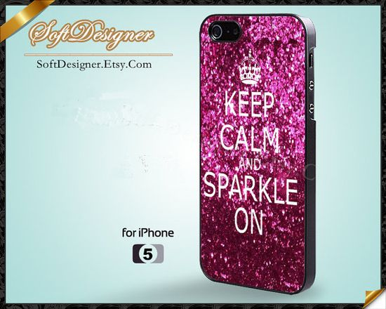 Keep Calm and Sparkle on - iPhone 5 Case, iPhone 5 Cover, iPhone 4 Case, iPhone 4S Case, iPhone 4 cover, iPhone Case - Case for iPhone