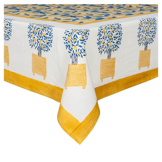 Lemon Tree Tablecloth--love!