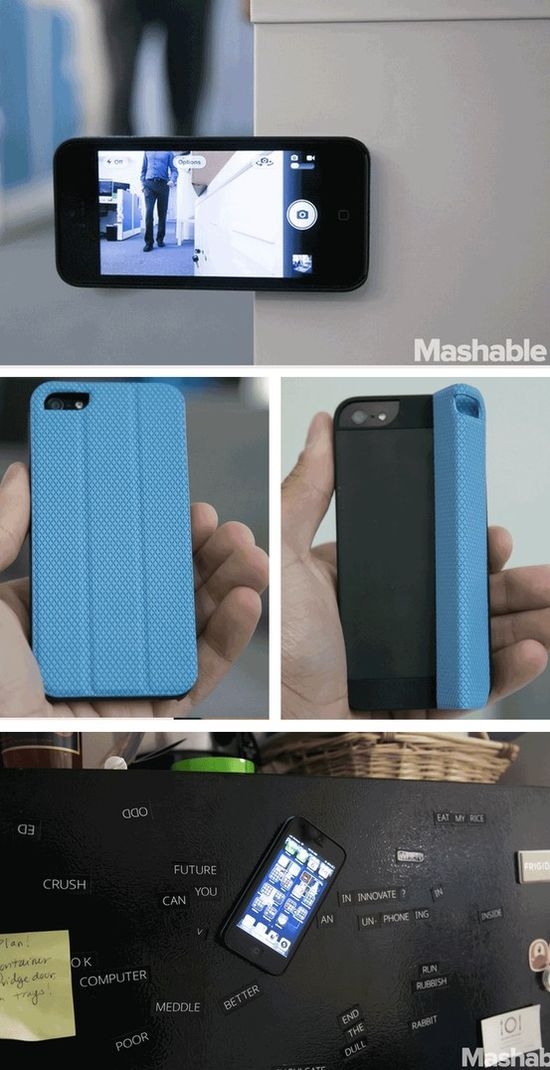 This cool iPhone case lets you turn your phone into a magnet.