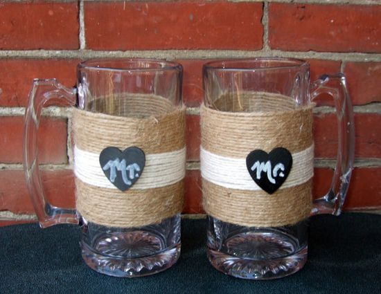 Same Sex Wedding Decoration / Toasting by CarolesWeddingWhimsy, $29.99, THESE SUCKERS HOLD 24 OZ OF YOUR FAVORITE BEVERAGE www.etsy.com/...