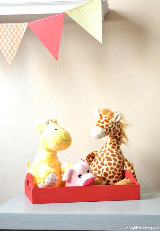 Baby Girl Nursery Ideas - Tray to wrangle stuffed animals