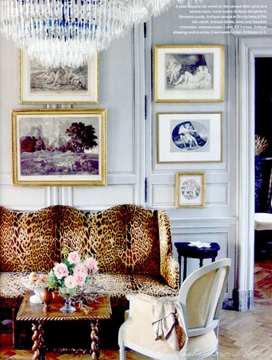 Someday, when I'm a crazy old lady, I will indulge myself in a batshit mad leopard print sofa.