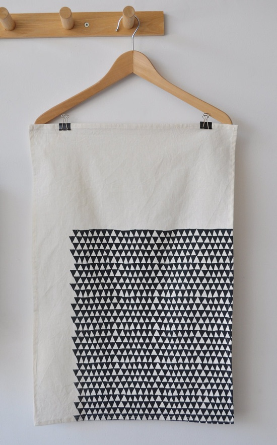 Triangle tea towel by bookhouathome.