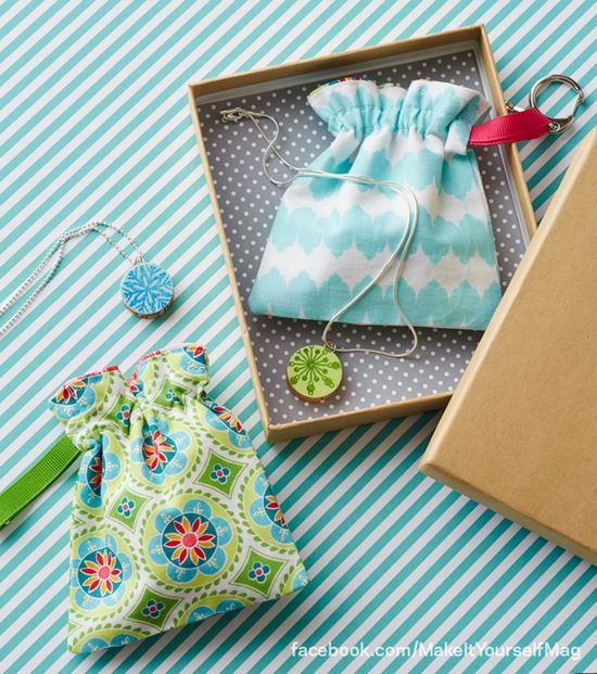 DIY Gift Bags, Cinch Sacks