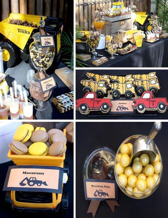 Construction themed boy birthday party full of cute ideas via KarasPartyIdeas.com #construction #truck #party #planning #ideas #decorations #supplies #idea