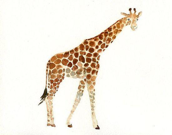 GIRAFFE - ACEO print-Children's Decor-Art for Children-kids wall art-Nursery art -Animal lover-african animal on Etsy, $5.00