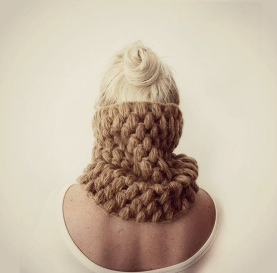 Womens Beige Cowl by LoveandKnit on Etsy, $49.00