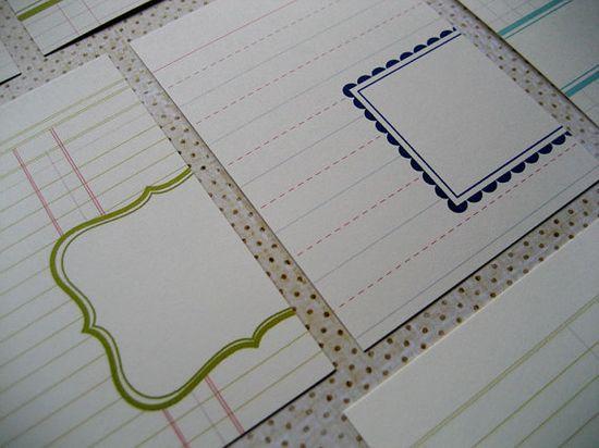 Journaling card ideas.