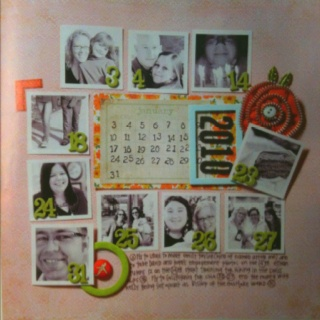 """""""Summarize the month"""" scrapbook page"""