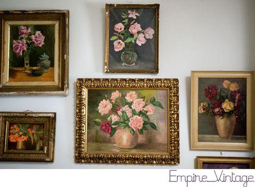 #flowershop collage of floral paintings