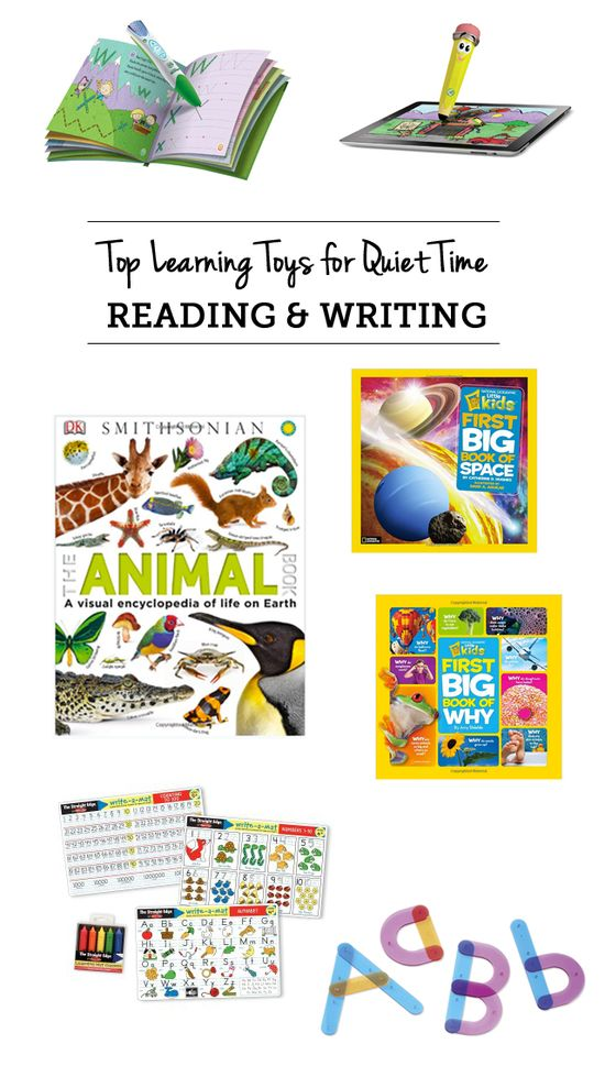 The best picks for practicing reading and writing during quiet time - great ideas so mom can get stuff done or spend some one on one time wi...