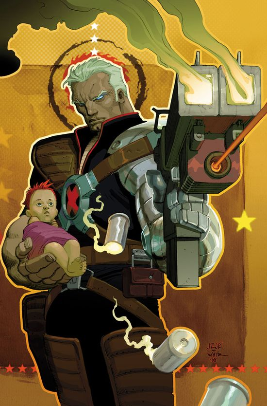 Cable and Hope by John Romita Jr.