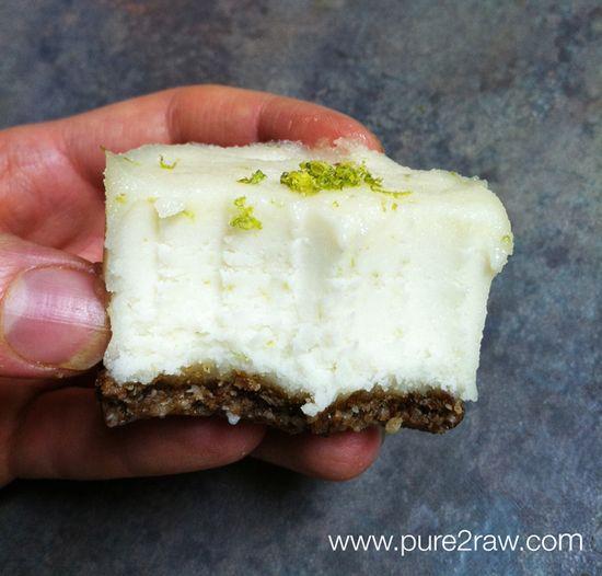 raw vegan lime cream cakes