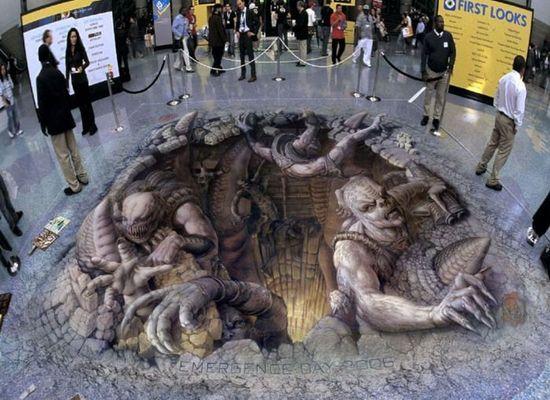 *3D Chalk art