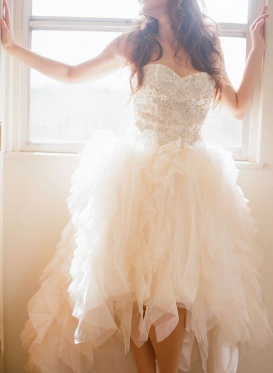 Ruffled gown + beaded bodice from Kirstie Kelly's 2013 Collection
