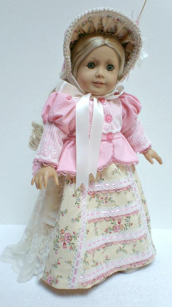 CAROLINE ABBOTT REGENCY Dress 5pc by dollupmydoll, $180.00