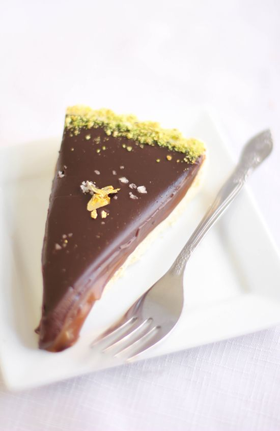 Sprinkle Bakes: The Best Sea Salted Chocolate-Caramel Tart