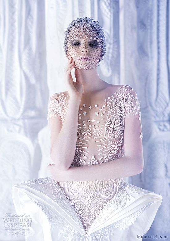 michael cinco couture wedding dress spring 2013