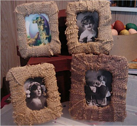 All Thumbs Crafts ~ Burlap Frame