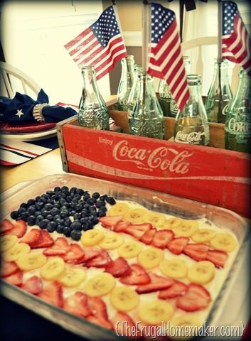 Nothing says 4th of July like fruit pizza and soda pop!