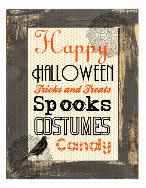 -Free- 8 x 10 Printable for Halloween - Sweetly Scrapped