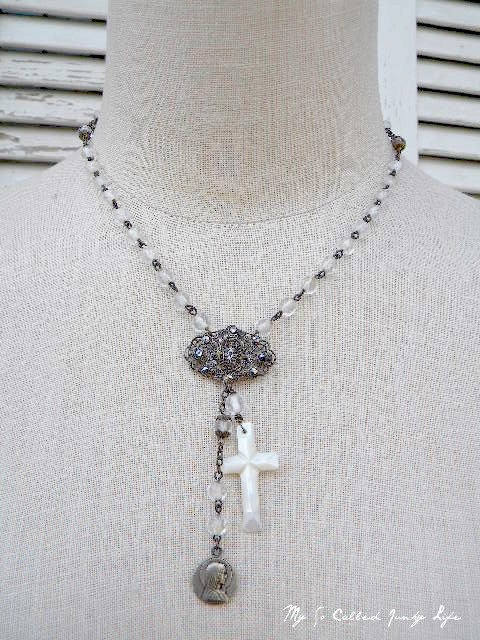 Old Time Religion  #jewelry #necklace #vintage #repurposed #religious #assemblage