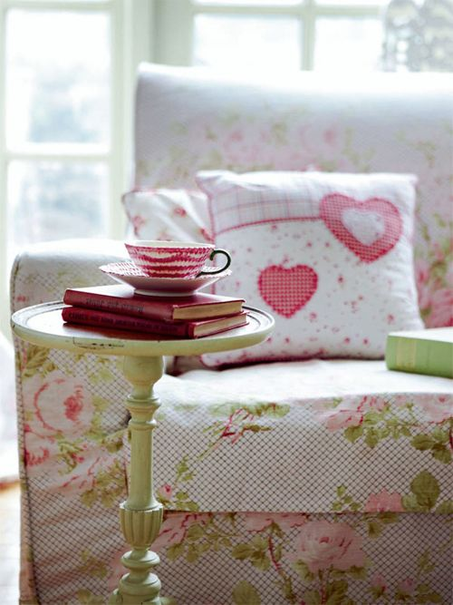 .every girl needs a place to read and drink her morning coffee ....