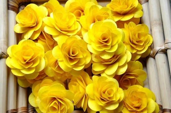 gorgeous yellow handmade roses