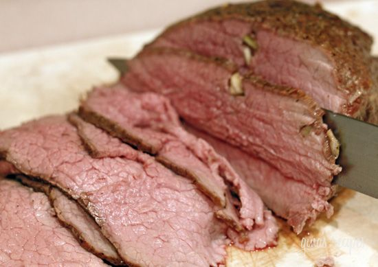 Garlic roast beef