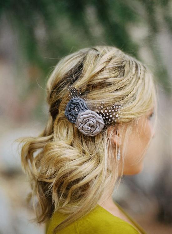 hair accessory and pretty, natural hair.