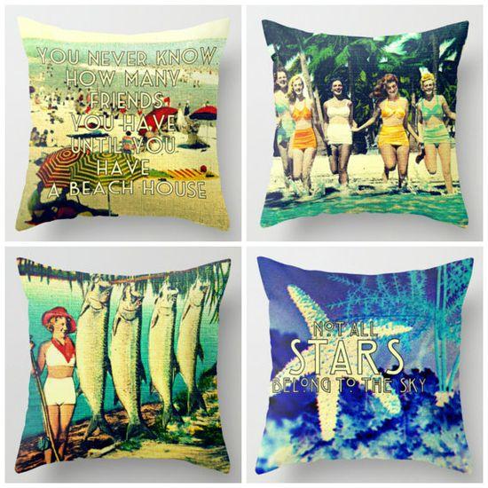Beach House Pillows  #beach-house-decor