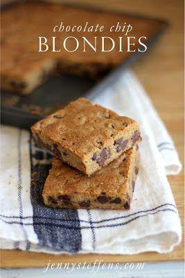 Chocolate Chip Blondies    jennysteffens.blo...