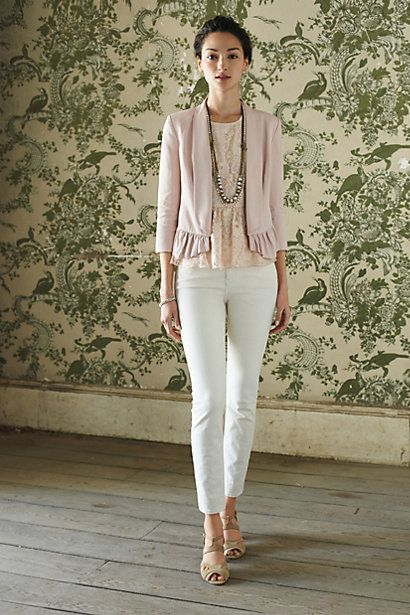 Ruffled Calin Blazer #anthropologie