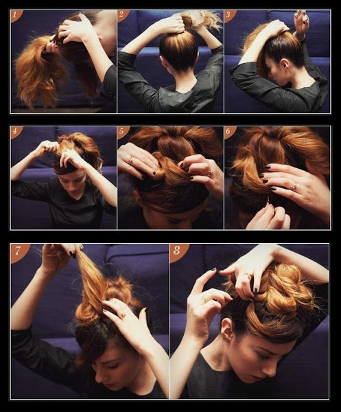 Make A Holiday Bun For Your Hair