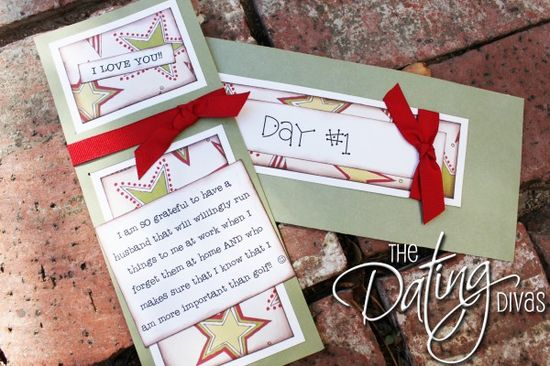 The Spouse Christmas Countdown. 25 days of showing your spouse you love him/her.
