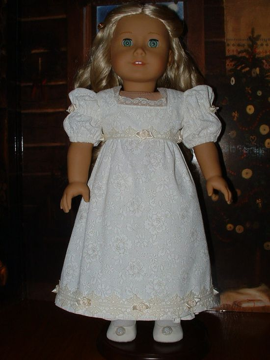 American Girl Caroline Winter White  & Ivory by VintiqueDesigns, $86.00
